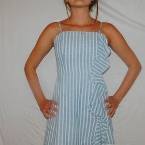 Super cute blue and white striped Shein dress!